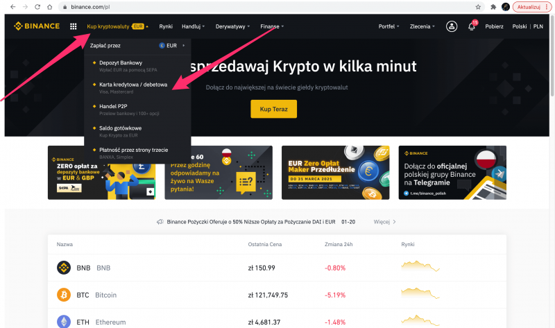 Binance po lpolsku !